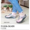 รองเท้าแตะเพื่อสุขภาพ แบบคีบ(F1006-SILVER เงิน)