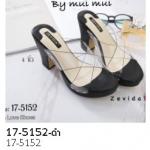 รองเท้าส้นสูง แบบสวม(17-5152-ดำ ดำ)