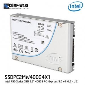 """Intel 750 Series 2.5"""" 400GB PCI-Express 3.0 x4 MLC Internal Solid State Drive (SSD) SSDPE2MW400G4X1"""