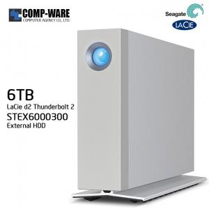 Seagate LaCie 6TB d2 Thunderbolt 2 & USB 3.0 External Hard Drive STEX6000300
