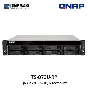QNAP NAS (2U 8-Bay) TS-873U-RP (64GB RAM) Redundant Power Supply