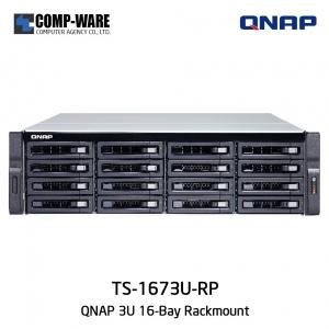 QNAP NAS (3U 16-Bay) TS-1673U-RP (16GB RAM) Redundant Power Supply