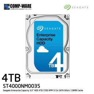 Seagate Enterprise Capacity 3.5'' HDD 4TB 7200RPM SATA 6Gb/s 128MB Cache Internal Hard Drive ST4000NM0035
