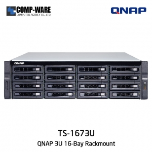 QNAP NAS (3U 16-Bay) TS-1673U (64GB RAM) Single Power Supply
