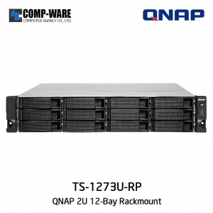 QNAP NAS (2U 12-Bay) TS-1273U-RP (64GB RAM) Redundant Power Supply