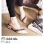 รองเท้า คัชชูปลายแหลม (FT-444-ครีม ครีม)