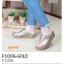 รองเท้าแตะเพื่อสุขภาพ แบบคีบ(F1006-GOLD ทอง)