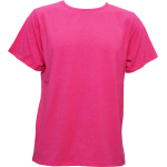 T-Shirt Cotton Spandex แขนสั้น สีชมพู