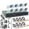 AHD CCTV ชุดกล้องวงจรปิด 8 กล้อง พร้อมติดตั้ง