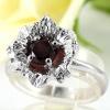 แหวนพลอยผู้หญิงเงินแท้ 92.5 เปอร์เซ็น ฝังด้วยพลอยโกเมนแท้