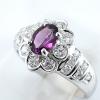 แหวนพลอยผู้หญิงเงินแท้ 92.5 เปอร์เซ็น ฝังด้วยพลอยโรไดไลท์การ์เน็ตแท้