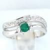 แหวนพลอยผู้หญิงเงินแท้ 92.5 เปอร์เซ็น ฝังด้วยพลอยกรีนอะเกทแท้