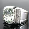 แหวนพลอยผู้ชายเงินแท้ 92.5 เปอร์เซ็น ฝังด้วยพลอยแอมิทิสต์แท้