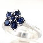 แหวนพลอยผู้หญิงเงินแท้ 92.5 เปอร์เซ็น ฝังด้วยพลอยไพลินแท้
