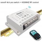 Sonoff 4 CH Pro ( 433 MHz) + Remote