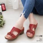 รองเท้าทรงสวม #รองเท้าเพื่อสุขภาพ 61192-4-แดง RED