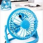 พัดลมตั้งโต๊ะ USB สีน้ำเงิน