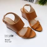 รองเท้าเตารีด งานคลาสสิก ที่ใส่ได้ทุกสไตล์ 915-122-น้ำตาล BROWN