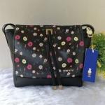 กระเป๋าสะพายหนัง pu ลายดอกไม้ แบรนด์ Miffy แท้💯%