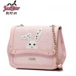 กระเป๋าสะพายกระต่ายกริตเตอร์ชมพูหวาน Juststar แท้ 100%