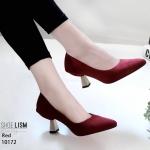 รองเท้าส้นสูงปราด้า 10172-แดง RED
