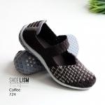 รองเท้าผ้าใบยางยืด รองเท้าผ้าใบ 724-กาแฟ Coffee