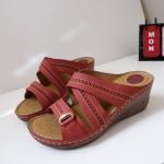 รองเท้าสุขภาพหน้าไขว้ งานขายดีอันดับ 1 8849-1-แดง RED