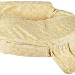 หมอนรองให้นม My Brest Friend Nursing Pillow รุ่น Deluxe ลาย Flower Key, Yellow White