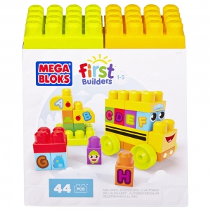ตัวต่อเสริมพัฒนาการ Mega Bloks First Builders ABC Spell School Bus สอน ABC ในรูปแบบรถโรงเรียน
