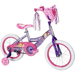 """จักรยานเจ้าหญิง 4 ล้อ Disney Princess 16"""" Girls' Pink Bike with Heart Basket พร้อมกล่องรูปหัวใจ"""