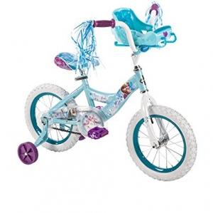 จักรยานโฟรเซ่น 4 ล้อ Huffy Disney Frozen 14inch Bike with Sleigh Doll Carrier สวยหวาน น่ารัก สำเนา