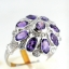 แหวนพลอยผู้หญิงเงินแท้ 92.5 เปอร์เซ็น ฝังด้วยพลอยแอมิทิสต์แท้ thumbnail 3