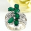 แหวนพลอยผู้หญิงเงินแท้ 92.5 เปอร์เซ็น ฝังด้วยพลอยกรีนอะเกทแท้ thumbnail 2