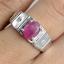 แหวนพลอยผู้ชายเงินแท้ 92.5 เปอร์เซ็น ฝังด้วยพลอยทับทิมแท้ thumbnail 6