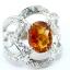แหวนพลอยผู้หญิงเงินแท้ 92.5 เปอร์เซ็น ฝังด้วยพลอยซิทรินแท้ thumbnail 3