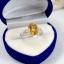 แหวนพลอยผู้หญิงเงินแท้ 92.5 เปอร์เซ็น ฝังด้วยพลอยซิทรินแท้ thumbnail 7