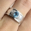 แหวนพลอยผู้ชายเงินแท้ 92.5 เปอร์เซ็น ฝังด้วยพลอยสวิสบลูโทปาซแท้ thumbnail 8