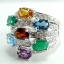 แหวนพลอยผู้หญิงเงินแท้ 92.5 เปอร์เซ็น ฝังด้วยพลอยแท้คละสี thumbnail 2