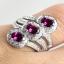 แหวนพลอยผู้หญิงเงินแท้ 92.5 เปอร์เซ็น ฝังด้วยพลอยโรโดไลท์การ์เน็ตแท้ thumbnail 7