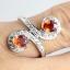 แหวนพลอยผู้หญิงเงินแท้ 92.5 เปอร์เซ็น ฝังด้วยพลอยบุษราคัมแท้สีส้ม thumbnail 8