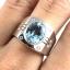 แหวนพลอยผู้ชายเงินแท้ 92.5 เปอร์เซ็น ฝังด้วยพลอยสกายบลูโทปาซแท้ thumbnail 6