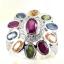 แหวนพลอยผู้หญิงเงินแท้ 92.5 เปอร์เซ็น ฝังด้วยพลอยแท้คละสี thumbnail 4