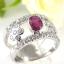 แหวนพลอยผู้หญิงเงินแท้ 92.5 เปอร์เซ็น ฝังด้วยพลอยทับทิมแท้ thumbnail 3