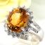 แหวนพลอยผู้หญิงเงินแท้ 92.5 เปอร์เซ็น ฝังด้วยพลอยซิทรินแท้ thumbnail 1