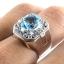 แหวนพลอยผู้ชายเงินแท้ 92.5 เปอร์เซ็น ฝังด้วยพลอยสวิสบลูโทปาซแท้ thumbnail 7