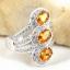 แหวนพลอยผู้หญิงเงินแท้ 92.5 เปอร์เซ็น ฝังด้วยพลอยซิทรินแท้ thumbnail 4