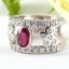แหวนพลอยผู้หญิงเงินแท้ 92.5 เปอร์เซ็น ฝังด้วยพลอยทับทิมแท้ thumbnail 4