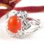 แหวนพลอยผู้หญิงเงินแท้ 92.5 เปอร์เซ็น ฝังด้วยพลอยคาร์เนเลียนแท้ thumbnail 5