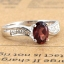 แหวนพลอยผู้หญิงเงินแท้ 92.5 เปอร์เซ็น ฝังด้วยพลอยโกเมนแท้ thumbnail 6