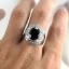 แหวนพลอยผู้ชายเงินแท้ 92.5 เปอร์เซ็น ฝังด้วยพลอยสโมกกี้ควอทซ์แท้ thumbnail 9